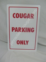 MERCURY COUGAR PARKING SIGN