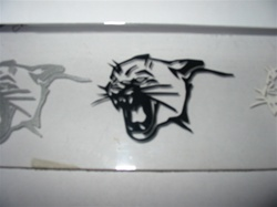 ELIM-6 1969 CAT-HEAD Decal for Hood Stripes