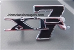 REPRODUCTION 1967-1968 XR-7 Emblem for the Roof Pillars.  Attaches with pins, fasteners included