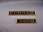 XG-3 1968 XR7-G Gold Dash Emblem (2-Pieces)