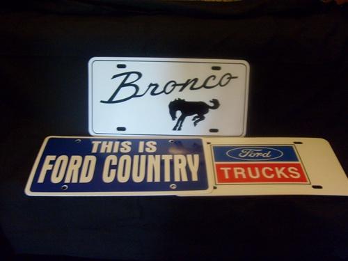 Mercury Cougar License Plates