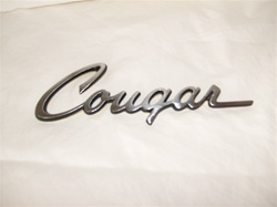 1969-1973 REPRODUCTION COUGAR GLUE-ON TRUNK EMBLEM
